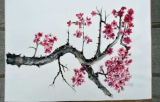 First Chinese painting - Blossom - Watercolour