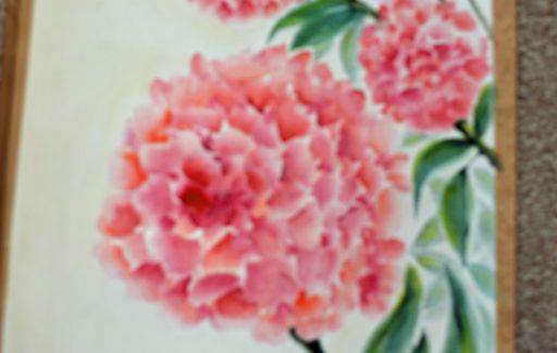 Second Chinese painting - Hydrangea - Watercolour