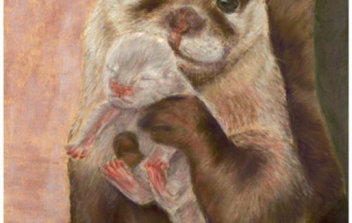 otter and Baby | Commission by Lesley Goff